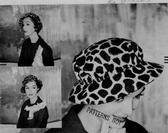 Vintage 50s -Vogue- John Frederics Hat Pattern