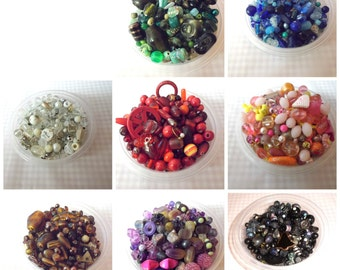60 Beads in Your Choice of Color .... 60 or More Beads ... Purple, Black, White, Orange, Blue, Red, Green, Brown