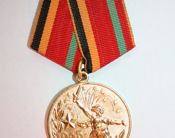 Vintage badge medal Thirty Years of Victory in the Great Patriotic War 1941-1945 from Soviet Union - USSR