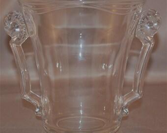 "Fostoria ""CORONET"" crystal 2 handled vase ca. 1938-1960"