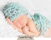 Blue Knit Hat for Boy or Girl with Tassel (fits 0-24 months)