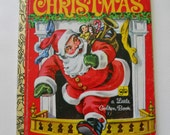 The Night Before Christmas Storybook - Vintage Little Golden Book - 1970s Childrens Christmas Story