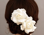 Silk Dupioni Bridal Headpiece, Wedding Headpiece, Bridal Head Piece, Wedding Head Piece, Bridal Hair Flower, Ivory Bridal Hair Accessory