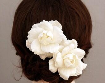 Silk Dupioni Bridal Headpiece, Wedding Headpiece, Flower Bridal Hair Piece, Wedding Hairpiece, Bridal Hair Flower Clip,Bridal Hair Accessory