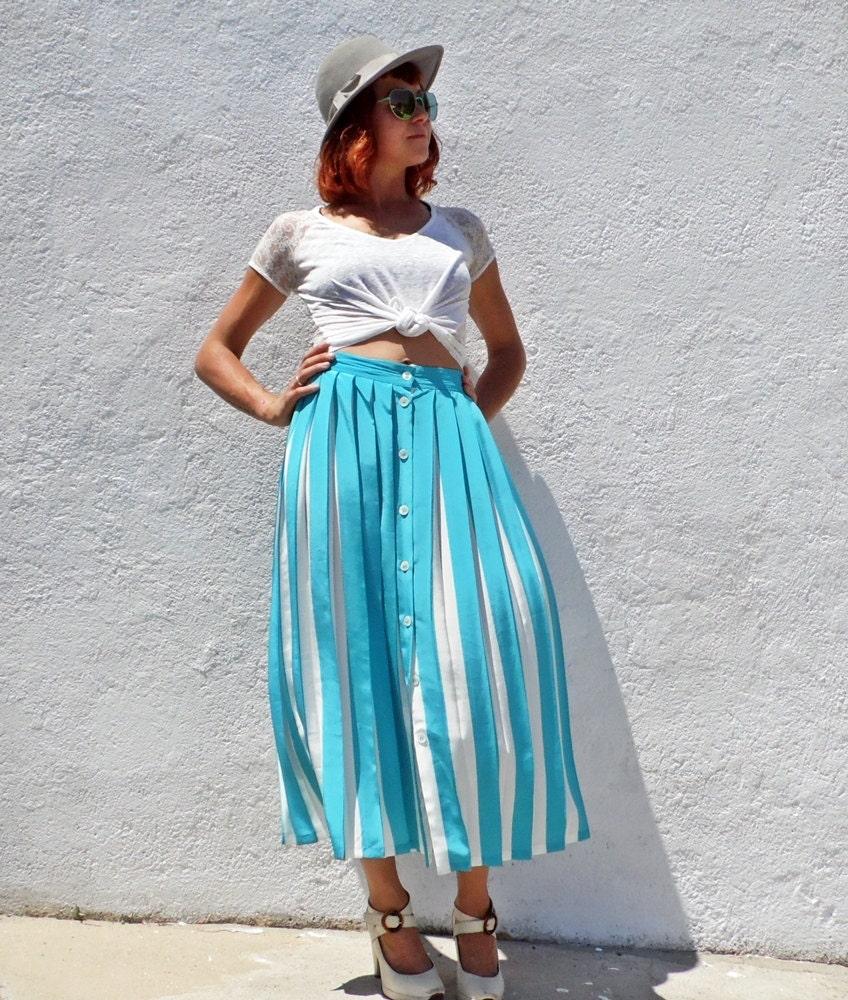 turquoise skirt maxi pleated skirt high waist skirt blue