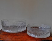 iittala Paadar Serving Bowls / Large and Medium / Tapio Wirkkala
