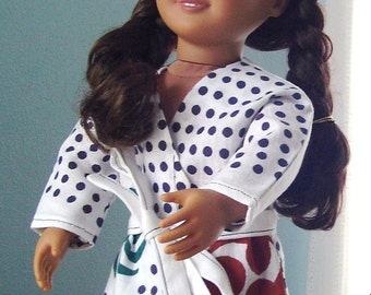 Japanese Martial Arts Robe for 18-inch Doll