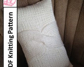 """PDF KNITTING PATTERN, Cable knit pillow cover pattern, 12""""x20"""", knitted cushion pattern"""