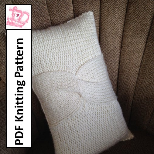 Cable Knit Pillow Pattern : PDF KNITTING PATTERN Cable knit pillow cover pattern
