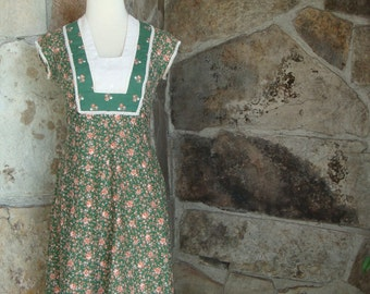 70s PRAIRIE MIDI DRESS vintage sweet hippie ditsy floral S