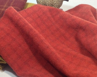 Wool Fabric for Rug Hooking and Applique, Select-a-Size, Lipstick Red, J719