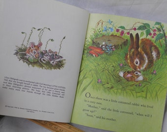 1969 Little Cottontail  Book Vintage Cotton Tail Vintage Little Golden Children's Book