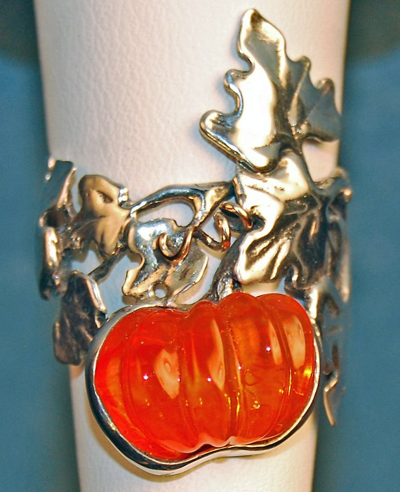 Magic Pumpkin Ring in Fire Opal and Sterling Silver