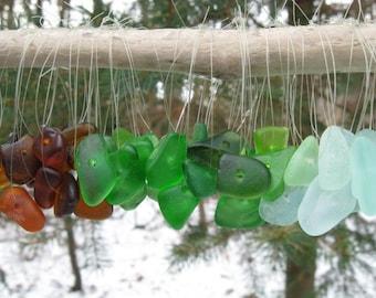 SIMPLE BEACH GLASS Ornaments Sea Glass Ornament Coastal Decor