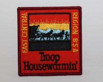 "Troop Housewarmin' - East Central Region BSA (Boy Scouts of America) 3"" Round Patch"