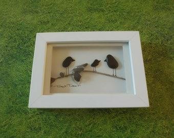 Pebble Art - 'Tweet Tweet' - small