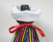 Bright Colorful Stripes, Class Wrap Wine Gift Bag