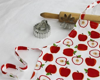White Apples Child Apron