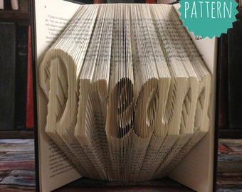 Folded Book Art Dream Pattern & tutorial, gift, decoration