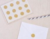 Wedding Stickers. Gold Glitter Stickers. Envelope Stickers. Envelope Seals. Round Gold Glitter Stickers. Mini Stickers. 3/4 inches