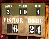Football Party Scoreboard - Printable Decorations - PERSONALIZED