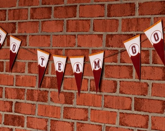 Football Party Banner - You Pick Team Colors - Printable Decorations