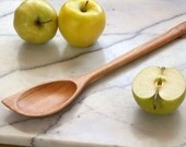 Right handed Cherry wooden spatula spoon hand carved kitchen utensil , house warming gift idea