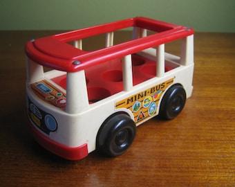 1969 Fisher Price Little People Mini Bus
