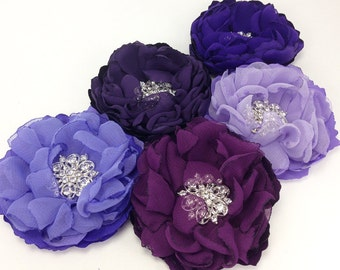 Eggplant Plum Lavender Purple Hair Clip - Pick Your Color - For a Bride, Bridesmaid, Flower Girl, Special Event Female Gift, Photo prop