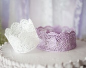 You Pick Color, Small Lace Crown, Prince Princess Crown, Party Favor, Photo Prop, Flower Girl, Cake Topper Baby Shower Wedding