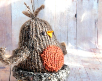FREE KNITTING PATTERN ROBIN RED BREAST - VERY SIMPLE FREE KNITTING PATTERNS