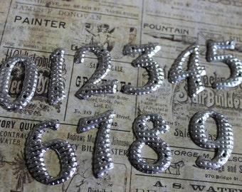 5 Vintage Aluminum Numbers