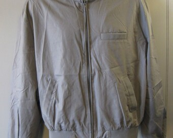 MEMBERS ONLY Vtg 80s Jacket Motorcycle Cafe Racer -Gray- size 44 M24
