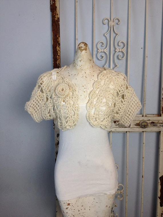 Once Upon a Time Shrug Crochet Pattern PDF Item PP117 Women or Teens Cardigan Bolero Sweater weddings XS-2X seamless