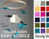 100% Merino Wool Felt Baby Mobile - Eco-Friendly - Rich, Lightfast Colors - Heirloom Quality - Choose your own custom airplane felt COLORS!