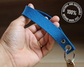 Felt Keychain / Key Fob - Blue