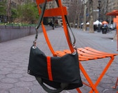 Urban Messenger Tote Convertible/ Multi Purpose/ Crossbody/ Army Green with Orange Stripes