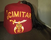 Vintage Shriner Fez Scimitar Lodge Regalia