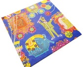 Vintage Gift Wrap - Circus in is Town - Full sheet Wrapping Paper - Laurel Gift Wrap - Lion Bear Elephant Ringmaster Monkey