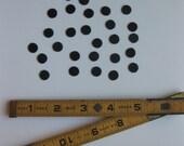 Circles 30 Itty Bitty Black Ultrasuede
