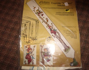 vintage paragon needlepoint kit crewel hummel stitcher craft unopened
