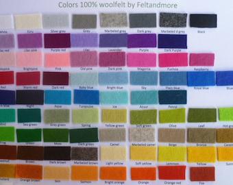 20 sheets of wool felt