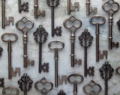 The Morrow Collection - Skeleton Key Assortment in Gunmetal Black - Set of 30 Keys - 3 STYLES