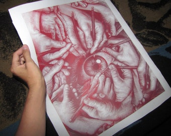 """Drawn to See, 16x20"""" Poster LIMITED EDITION"""