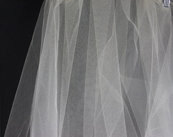 Biege Bridal Illusion Tulle.  3 yards.. 54 Inches Wide..
