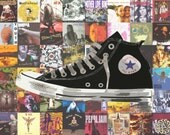 90s Nostalgia Poster - Pearl Jam / Nirvana / Radiohead / Smashing Pumpkins / Converse