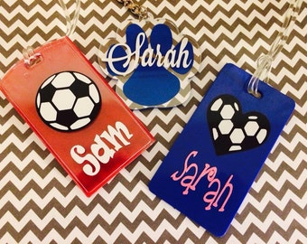 Personalized Backpack Tags/Luggage Tags/Bag Tags/Lunch Box