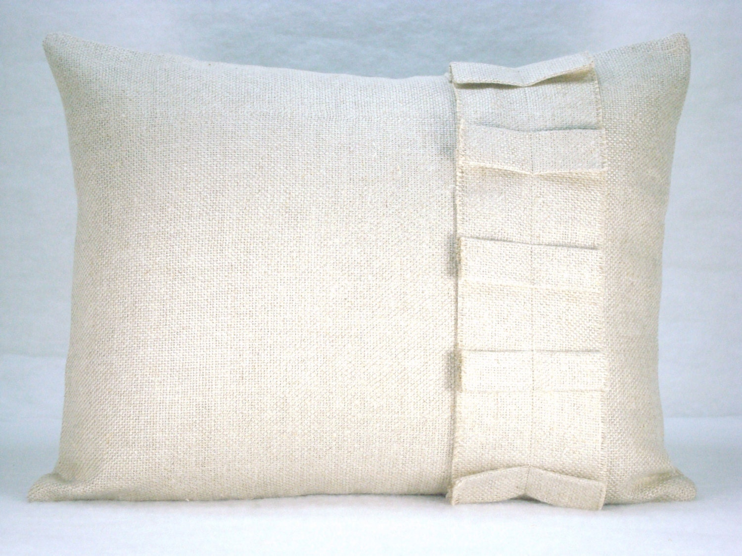 Decorative Pillows Linen : Linen Lumbar Pillow Decorative Accent Lumbar Pillow Ruffled