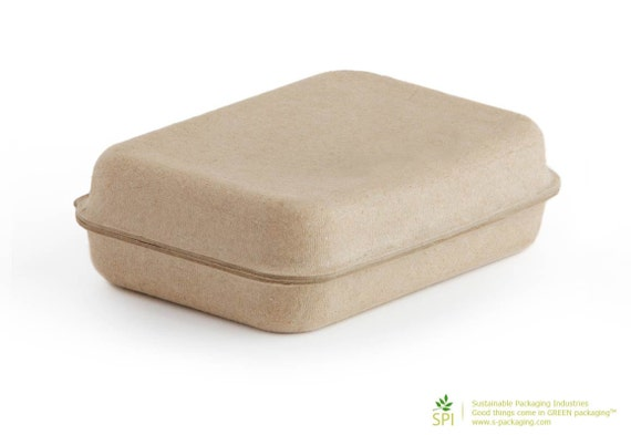 SMALL Clamshell (GK-001) - Eco Friendly and Stylish Green Packaging for Soap, Jewelry, Gifts, Party Favors and more...