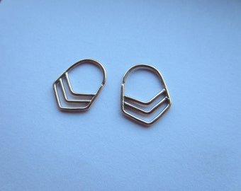 Chevron Earrings (14k Gold Fill)